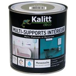 Peinture multi-supports - Intérieur - Mat - Vert de gris - 0.5 L - KALITT - Peintures - DE-366857