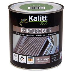 Peinture bois - Microporeuse - Satin - Vert provence - 0.5 L - KALITT - Peintures - DE-368381
