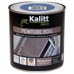 Peinture bois - Microporeuse - Satin - Bleu lavande - 0.5 L - KALITT - Peintures - DE-368399