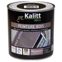 Peinture bois - Microporeuse - Satin - Brun Normand - 0.5 L - KALITT - Peintures - DE-368423