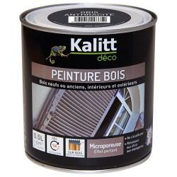 Peinture bois - Microporeuse - Satin - Gris galet - 0.5 L - KALITT - Peintures - DE-368431