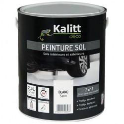 Peinture Spécial sol - Satin - Blanc - 2.5 L - KALITT - Peintures - DE-367896