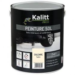 Peinture Spécial sol - Satin - Calcaire - 2.5 L - KALITT - Peintures - DE-367904