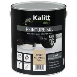 Peinture Spécial sol - Satin - Pierre naturelle - 2.5 L - KALITT - Peintures - DE-367920