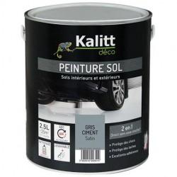 Peinture Spécial sol - Satin - Gris ciment - 2.5 L - KALITT - Peintures - DE-367954