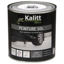 Peinture Spécial sol - Satin - Blanc - 0.5 L - KALITT - Peintures - DE-367961