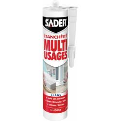 Mastic d'étanchéité Multi-usages - Blanc - 280 ml - SADER - Mastic sanitaire - BR-539057