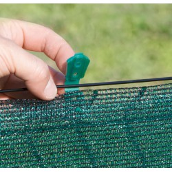 Clips de fixation pour brise-vue tissés - Totaltex - Lot de 20 clips - NORTENE - Tuteurs / Cordes / Étiquettes - DE-105494