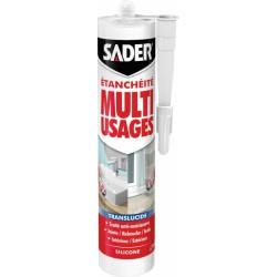 Mastic d'étanchéité Multi-usages - Translucide - 280 ml - SADER - Mastic sanitaire - BR-539059