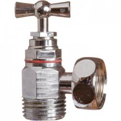 Robinet équerre chromé, à potence avec presse étoupe - 12 x 17 mm - SFERACO - Robinet d'arrêt WC - SI-694011