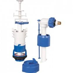 Mécanisme chasse d'eau et robinet - Kit rénovation - Clip'Easy - à€ tirette - Mécanisme de chasse - SI-370246
