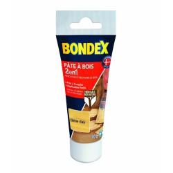 Pâte à bois 2 en 1 - Chêne clair - 80 Grs - BONDEX - Réparation et rénovation du bois - DE-483553