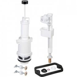 Mécanisme chasse d'eau et robinet - à€ tirette - Pour Aspirambo - SIAMP - Mécanisme de chasse - SI-695021