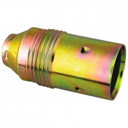 Douille E14 an acier laitonné 60 Watts ⌀ 11 mm - L'EBENOID - Douille pour ampoule E14 - BR-546720