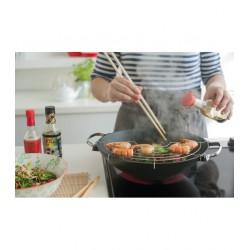 Wok Lhasa - Grille et baguettes - 30 cm - Tous feux - BEKA - Poêle - DE-644203