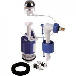 Kit mécanisme complet de WC 365 à câble - Poussoir double débit - Mécanisme de chasse - SI-365010