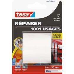 Ruban adhésif réparation - 1001 usages - 5 M x 50 mm - Blanc - TESA - Ruban adhésif réparation - BR-767566