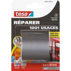 Ruban adhésif réparation - 1001 usages - 5 M x 50 mm - Gris - TESA - Ruban adhésif réparation - BR-767567