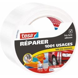 Ruban adhésif réparation - 1001 usages - 25 M x 50 mm - Blanc - TESA - Ruban adhésif réparation - BR-767569
