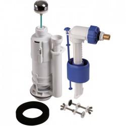 Mécanisme chasse d'eau et robinet - Kit 270 - Poussoir simple débit - Mécanisme de chasse - SI-270010