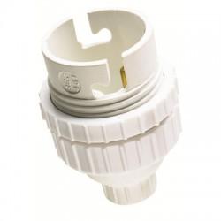 Douille B22 en nylon avec passage de fil - Double Bague 11 mm - L'EBENOID - Douille pour ampoule B22 - BR-372757