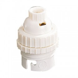 Douille B22 en nylon avec passage de fil - Double Bague 10 mm - L'EBENOID - Douille pour ampoule B22 - BR-278939
