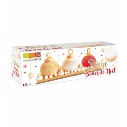 Kit moule bûche - Boules de Noël - SCRAPCOOKING - La patisserie - DE-326851