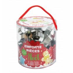 Seau de 18 emporte-pièces Noël - SCRAPCOOKING - Accessoires de patisserie - DE-323899