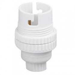 Douille B22 en nylon avec passage de fil - Simple Bague 11 mm - L'EBENOID - Douille pour ampoule B22 - BR-372528