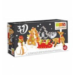 Kit 8 découpoirs en Inox 3 D - Noël - SCRAPCOOKING - Accessoires de patisserie - DE-503079