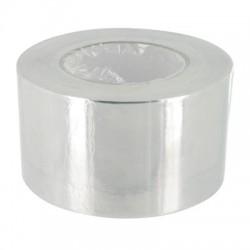 Adhésif Aluminium lisse 80° - 50 m x 75 mm - Ruban adhésif réparation - BR-306770