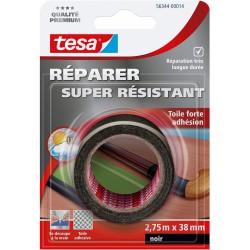 Toile adhésive super résistante - Noir - 2.75 M x 38 mm - TESA - Ruban adhésif réparation - DE-667998