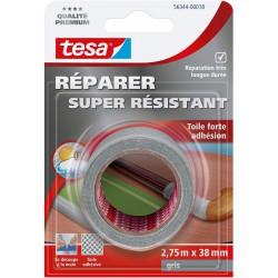 Toile adhésive super résistante - Gris - 2.75 M x 38 mm - TESA - Ruban adhésif réparation - DE-668046