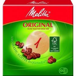 MELITTA - Filtre papier rond D94 - N°1 - Pour le Thé, Café, petit déjeûner - 301806