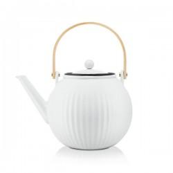 Théière à piston en porcelaine - 1.5 L - Douro - Blanc - BODUM - Pour le Thé, Café, petit déjeûner - DE-514415
