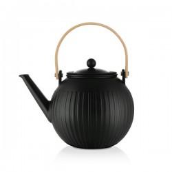 Théière à piston en porcelaine - 1.5 L - Douro - Noir - BODUM - Pour le Thé, Café, petit déjeûner - DE-514407