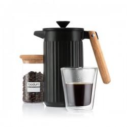 Cafetière à piston en porcelaine, 8 tasses, 1.0 L - Douro - Noir - BODUM - Pour le Thé, Café, petit déjeûner - DE-514183