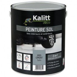 Peinture Spécial sol - Satin - Gris ciment - 0.5 L - KALITT - Peintures - DE-517814