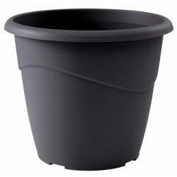 Pot à fleurs - Rond - Marina - Gris - 6 L - EDA - Pots ronds - BR-308077
