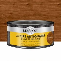 Cire d'antiquaire en pâte - Black Bison - Chêne foncé - 500 ml - LIBERON - Entretien du bois - DE-536698