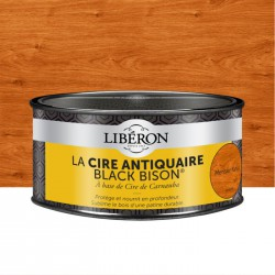 Cire d'antiquaire en pâte - Black Bison - Merisier foncé - 500 ml - LIBERON - Entretien du bois - DE-536540