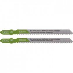 Lame pour scie sauteuse pour bois - Accroche en T - 75 x 2.5 mm - Lot de 2 - SCID - Scie / Lame - BR-513427