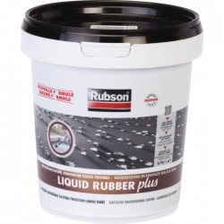 Imperméabilisant toitures - STOP fuite - Liquid Rubber - Noir - 750 ml - RUBSON - Enduit anti-humidité / étanchéité - BR-960332