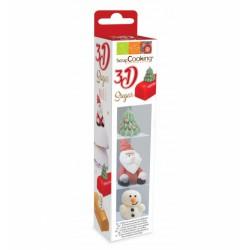 Décors 3D en sucre - Noël - SCRAPCOOKING - Épicerie sucrée - DE-504838