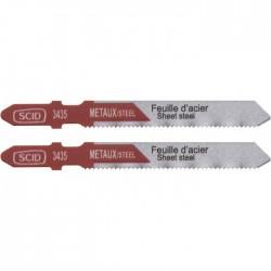 Lame de scie sauteuse métal HSS accroche en T SCID - Pas de dent 1.2 mm - Longueur 75 mm - Vendu par 2 - Scie / Lame - BR-513435