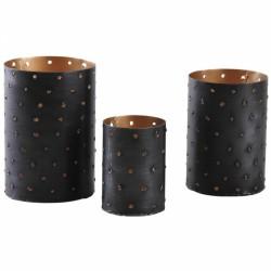 Set de 3 photophores en métal - AUBRY GASPARD - Bougies de table / Accessoires - DE-446112