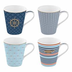 Coffret de 4 tasses à café Bord de mer - Coffee Mania - Porcelaine - EASY LIFE - Tasse / Mug - DE-431023
