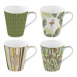 Coffret de 4 tasses à café Tropical - Coffee Mania - Porcelaine - EASY LIFE - Tasse / Mug - DE- 431379