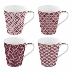 Coffret de 4 tasses à café Damask - Coffee Mania - Porcelaine - EASY LIFE - Tasse / Mug - DE- 428657