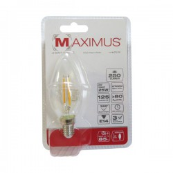 Ampoule filament LED Flamme - E14 - 2 Watts - Maximus - DURACELL - Ampoules LED - DE-233460